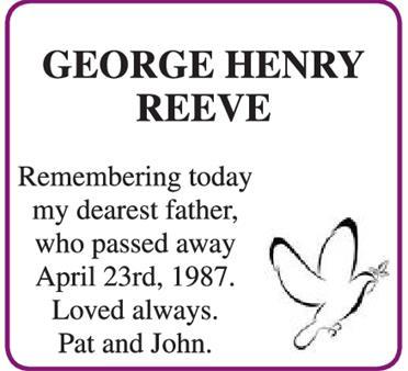 GEORGE HENRY REEVE