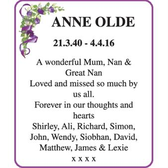 Anne Olde