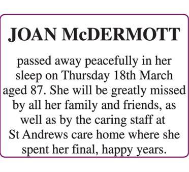JOAN McDERMOTT