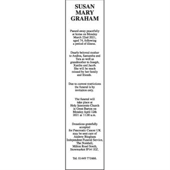Susan Mary GRAHAM