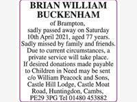 BRIAN BUCKENHAM