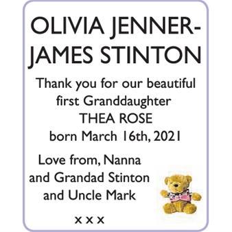 OLIVIA JENNER and JAMES STINTON
