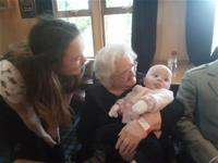 Granny sue holding her first great grandson