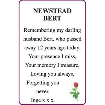BERT NEWSTEAD