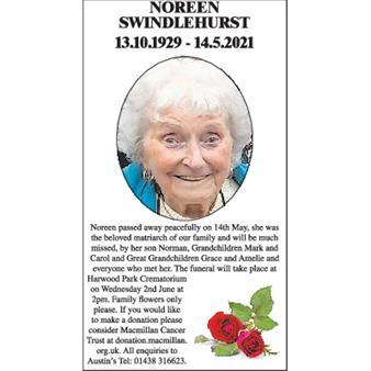 Noreen Swindlehurst