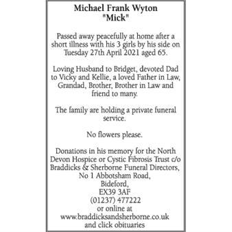 """Michael Wyton """"Mick"""""""