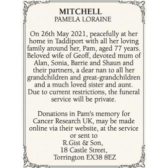 PAMELA LORAINE MITCHELL
