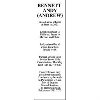 ANDY (ANDREW) BENNETT