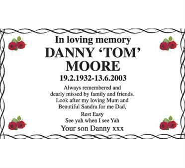 DANNY 'TOM' MOORE