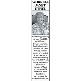 JANET ETHEL WORRELL