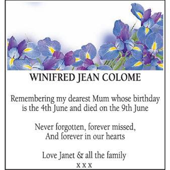 Winifred Jean Colome