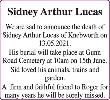 Sidney Arthur Lucas