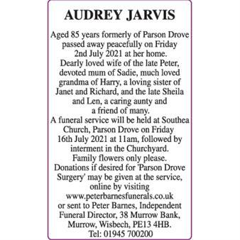 AUDREY JARVIS