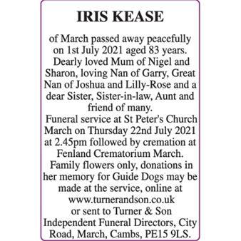 IRIS KEASE