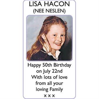 LISA HACON (nee Neslen)