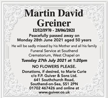 Martin David Greiner