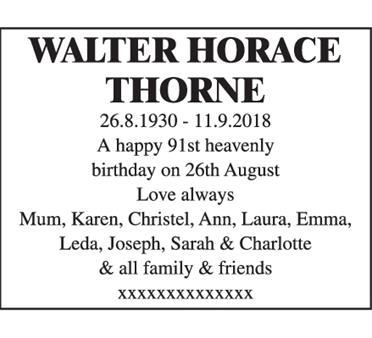 Walter Horace Thorne