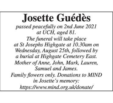Josette Guédès