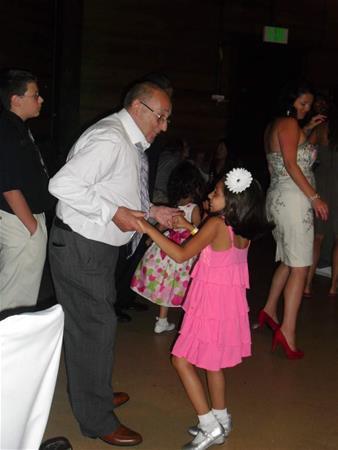 Grandad and Mya danced the night away.