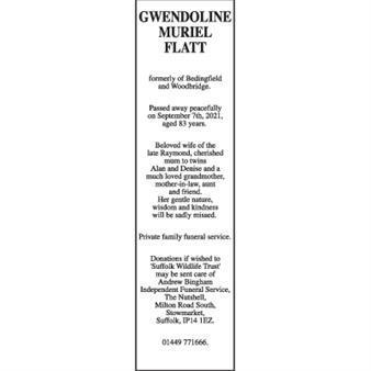 GWENDOLINE MURIEL FLATT