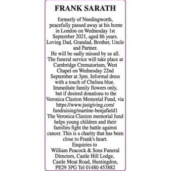 FRANK SARATH